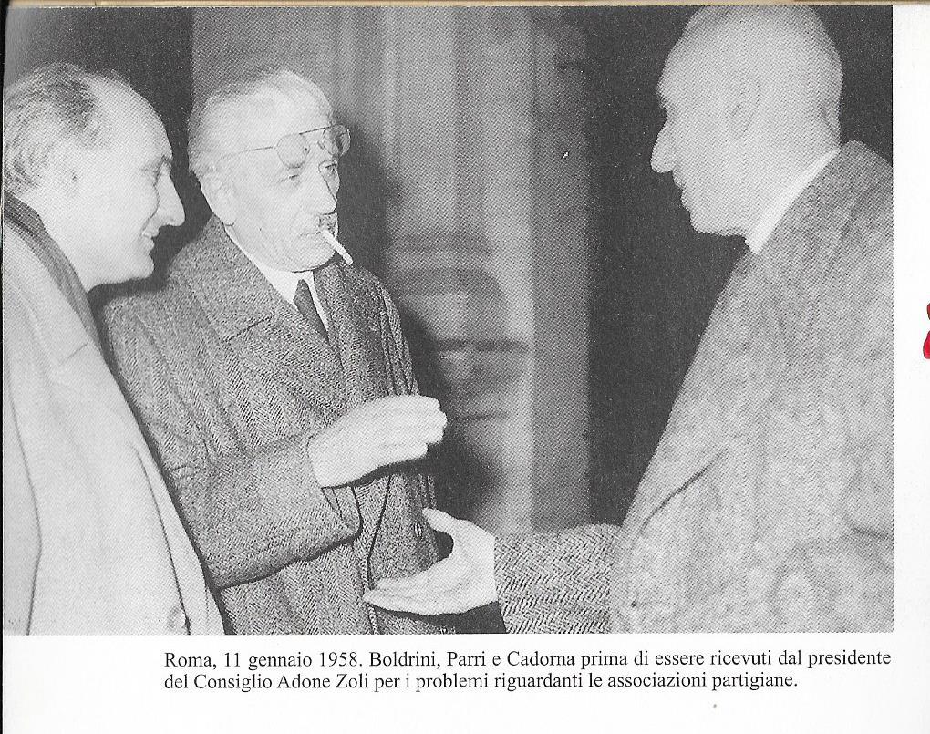 Boldrini con il generale Cadorna e Ferruccio Parri