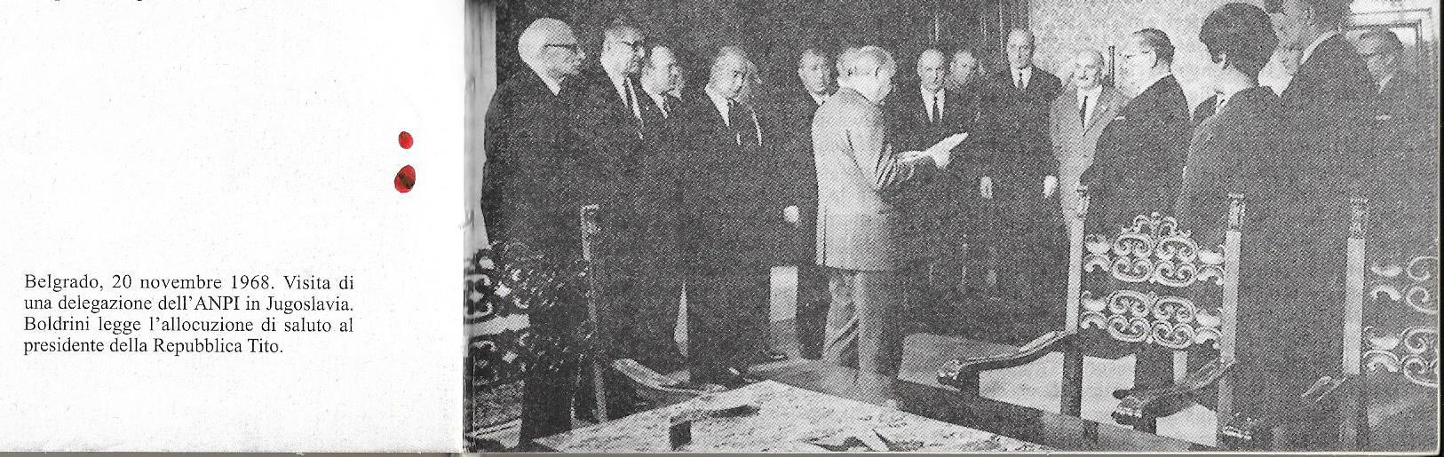 Boldrini con il Presidente della Jugoslavia Tito