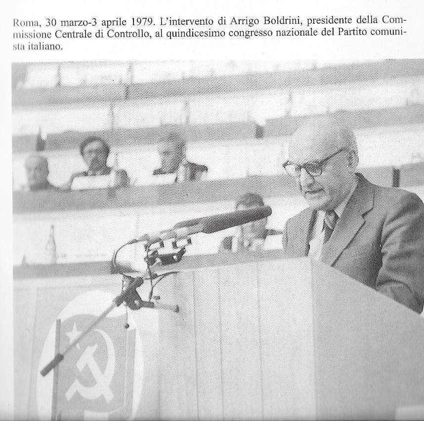 Boldrini Presidente della Commissione Centrale di Controllo del P.C.I.