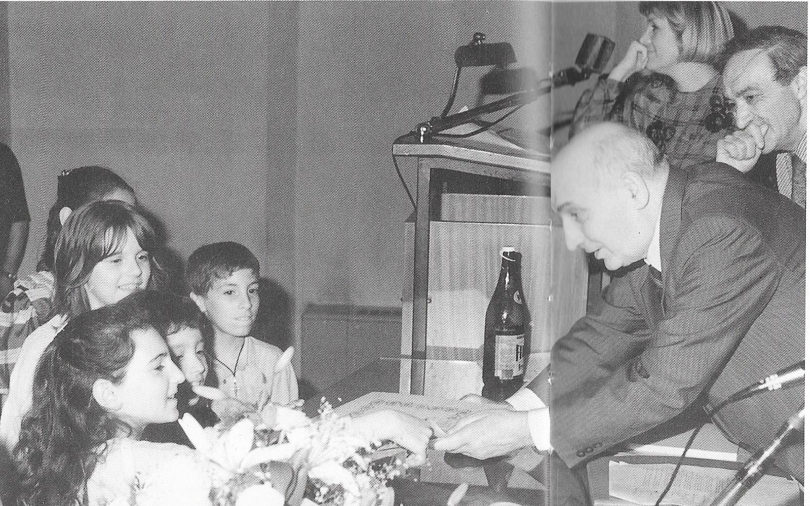 Boldrini in una scuola elementare di Ravenna, 1988