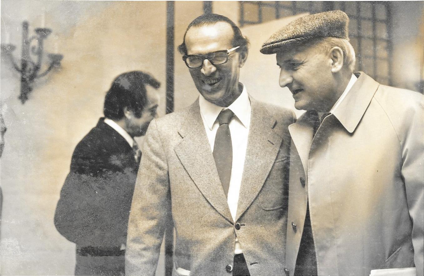 Boldrini con il critico d'arte Raffaele De Grada