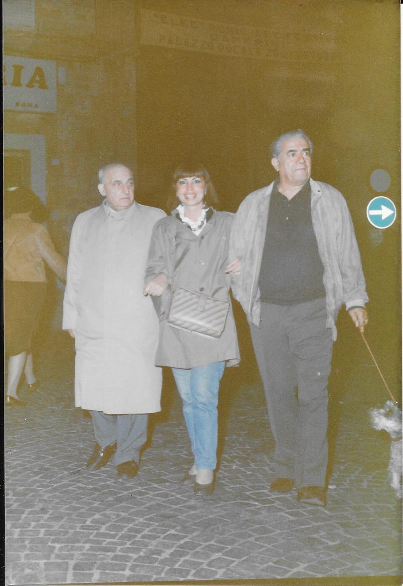 Boldrini con il tenore Giuseppe Di Stefano e la pittrice Vera Santarelli