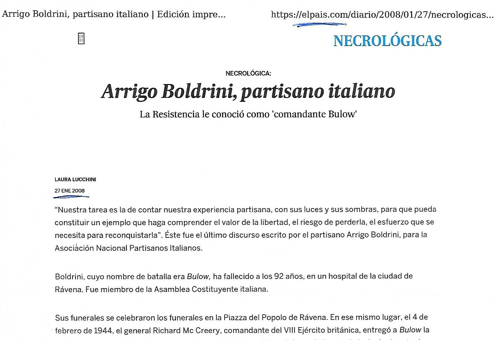 Articolo de El Pais, necrologio Boldrini 2008 (1)