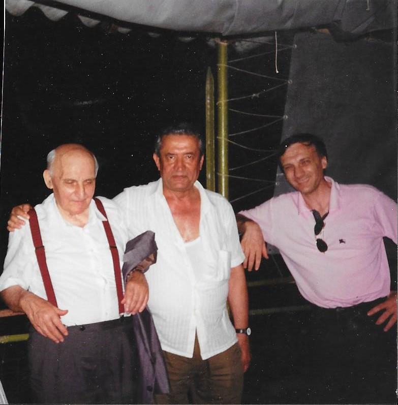 Boldrini con l'amico Widmer Brunetti ed il figlio Carlo Boldrini